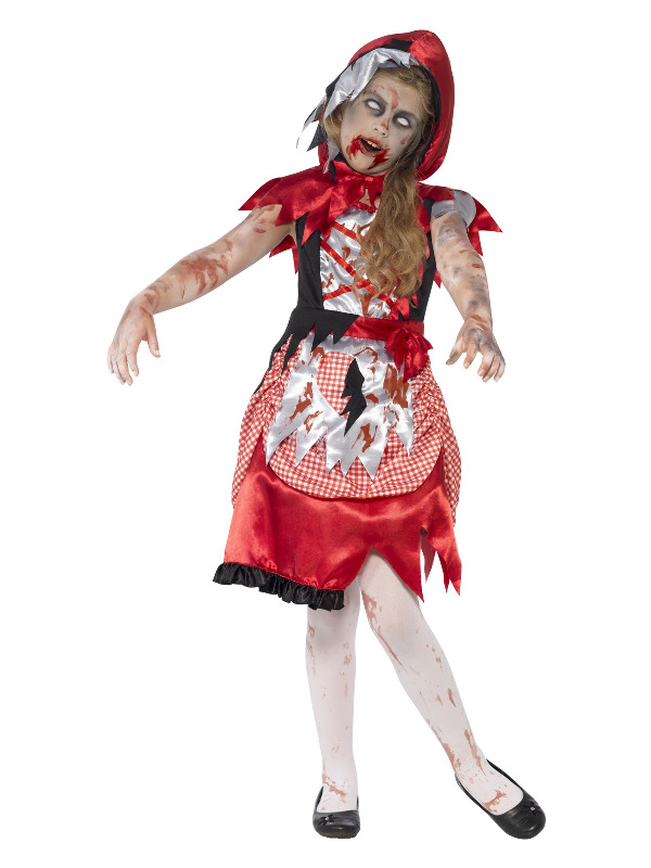 Zombie Miss Hood Costume, Red