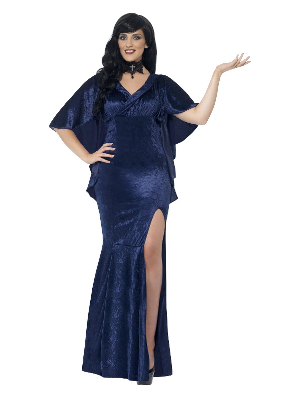 Curves Sorceress Costume, Blue