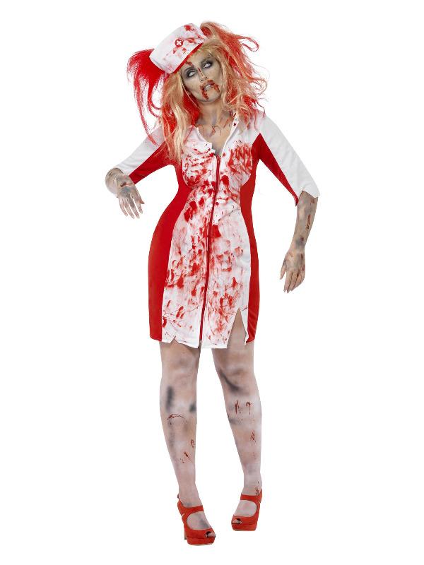 Curves Zombie Nurse Costume, White