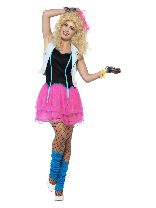 80s Wild Girl Costume, Pink