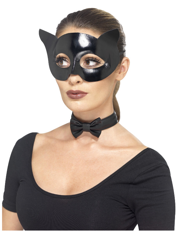 Fever Cat Instant Kit, Black, with Wet Look Mask & Collar