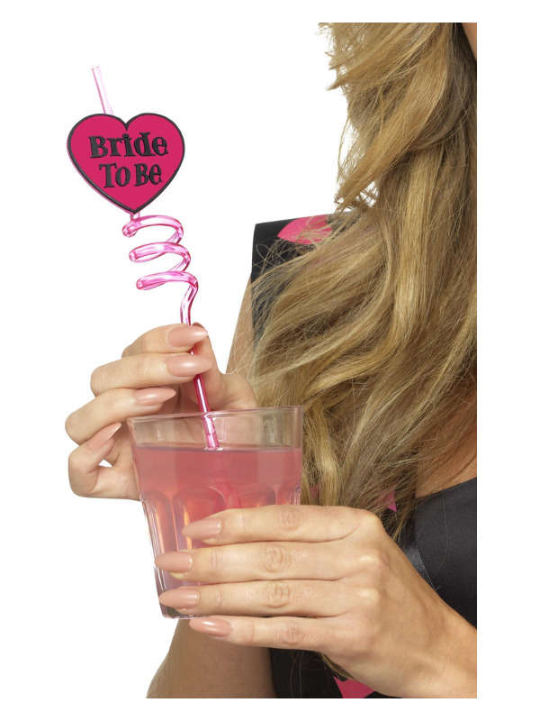 Bride to Be Drinking Straw, Pink