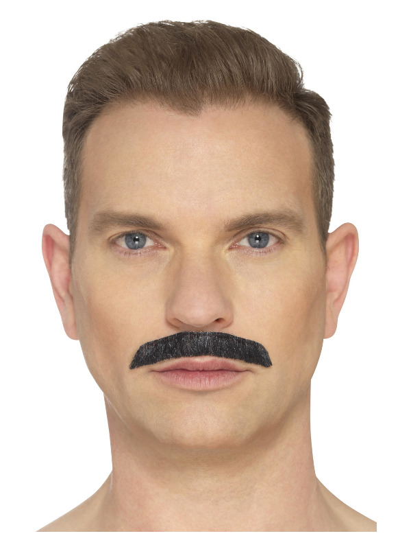 Iconic Rock Star Moustache, Black, Hand Knotted