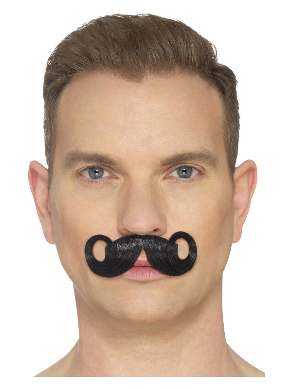 The Imperial Moustache, Black, Hand Knotted