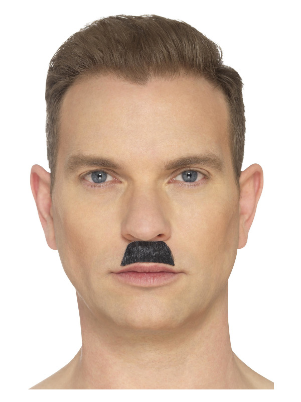 The Toothbrush Moustache, Black, Hand Knotted