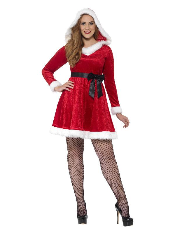 Curves Miss Santa Costume, Red