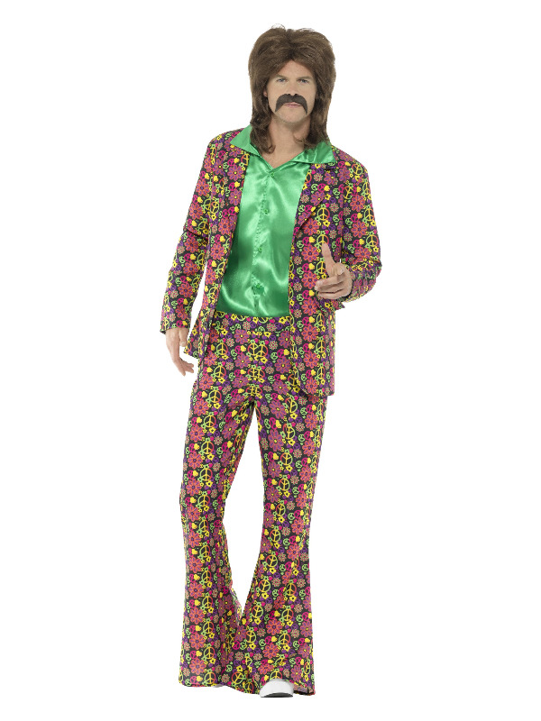 60s Psychedelic CND Suit, Multi-Coloured