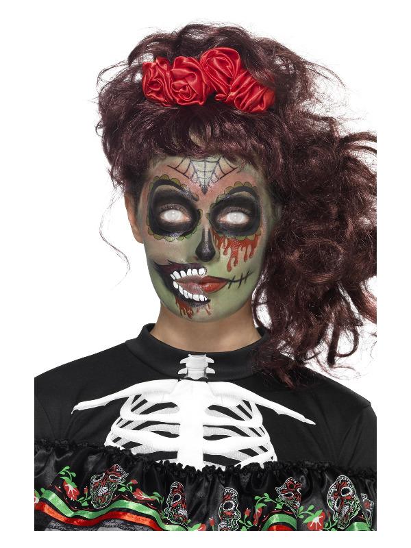 Smiffys Make-Up FX, DOTD Zombie Kit, Grease, Multi-Coloured, Transfers, Facepaint, Crayon & Applicators