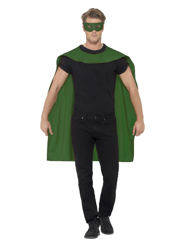Cape, Green, with Eyemask