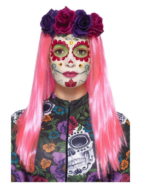 Smiffys Make-Up FX, DOTD Sweetheart Kit, Aqua, Neon, Transfers, Facepaint, Jewels, Lashes & Applicators