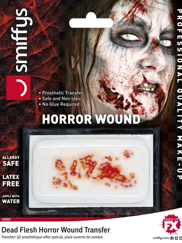 Horror Wound Transfer, Dead Flesh, Red, Water Based, Allergy & Latex Free