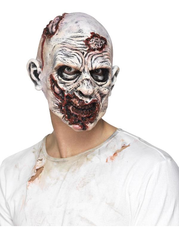 Zombie Mask, Foam Latex, Multi-Coloured, Full Overhead