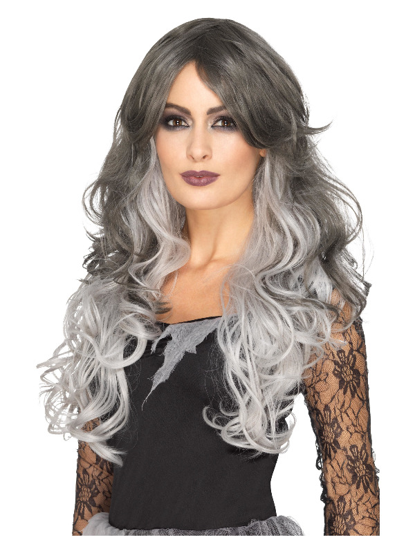 Deluxe Gothic Bride Wig, Grey, Heat Resistant/Styleable