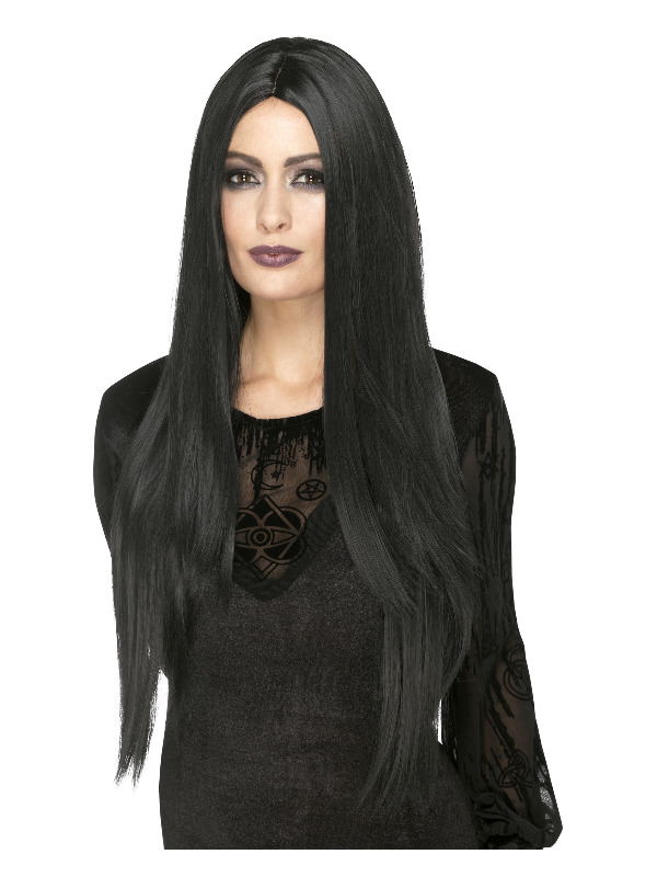Deluxe Witch Wig, Black, Extra Long, 75cm/30in, Heat Resistant/Styleable
