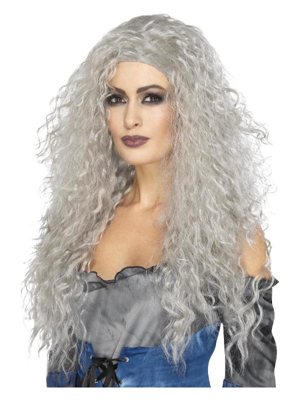 Banshee Wig, Grey, Long & Messy