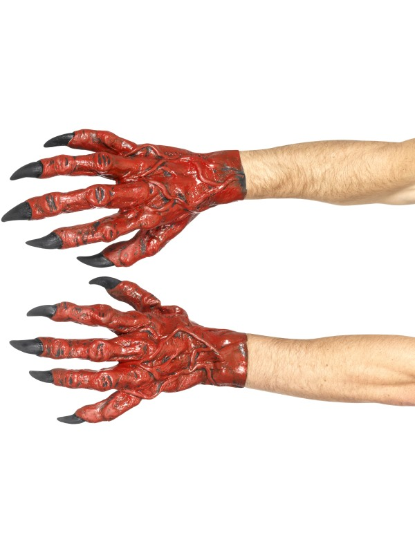 Devil Hands, Latex, Red