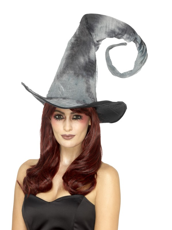 Deluxe Spellbound Decayed Hat, Tie Dye, Grey, Tall & Twisted, Unisex