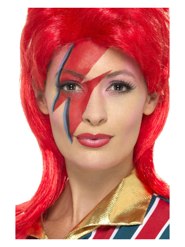 Space Superstar Make Up Kit, Multi-Coloured, with Face Paints, Lightning Bolt Stencil & Applicators