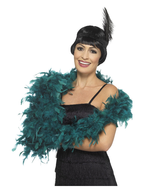 Deluxe Boa, Teal, 180cm, 80g