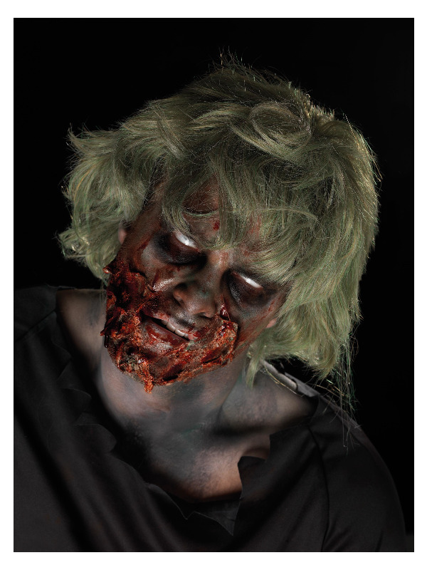 Smiffys Make-Up FX, Zombie Powder Dirt Kit, Pigment Pots, Liquid Latex, Aqua Face Paint, Blood & Applicators