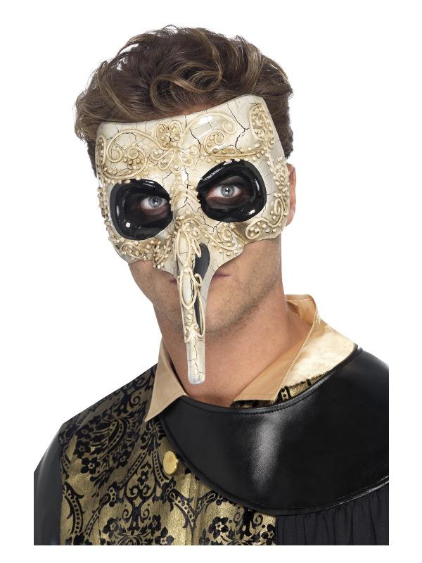Venetian Plague Doctor Mask, Beige