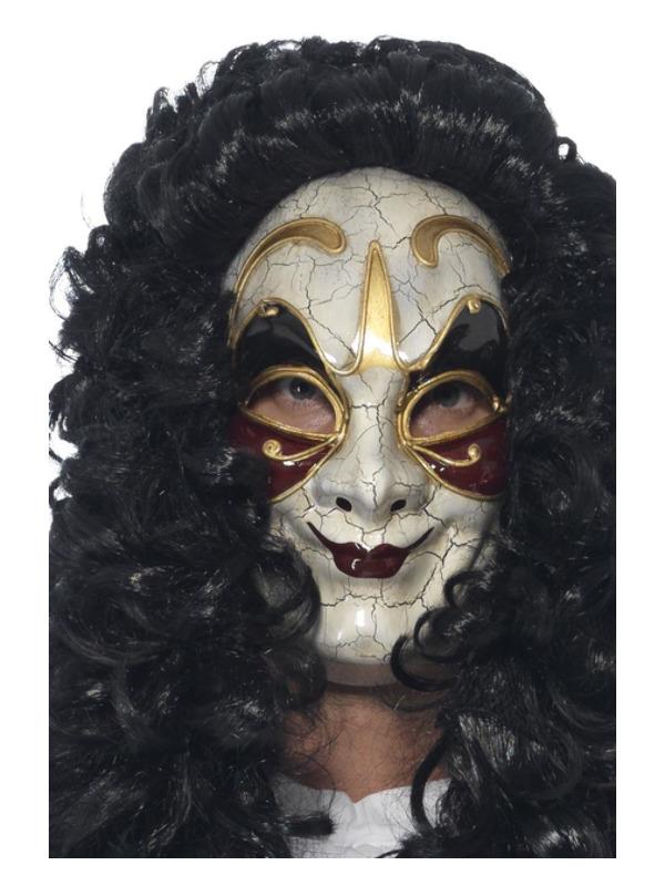 Venetian Masked Highwayman Mask, Beige