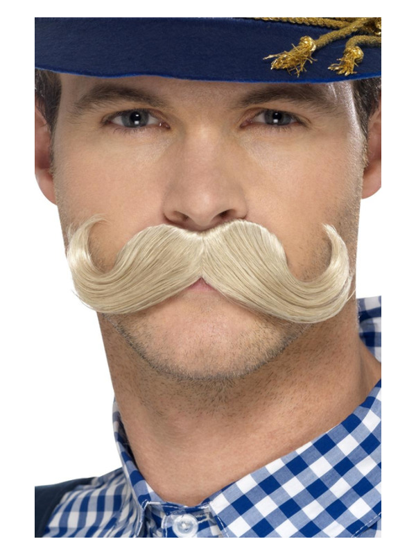 Authentic Bavarian Oktoberfest Moustache, Blonde, Self Adhesive