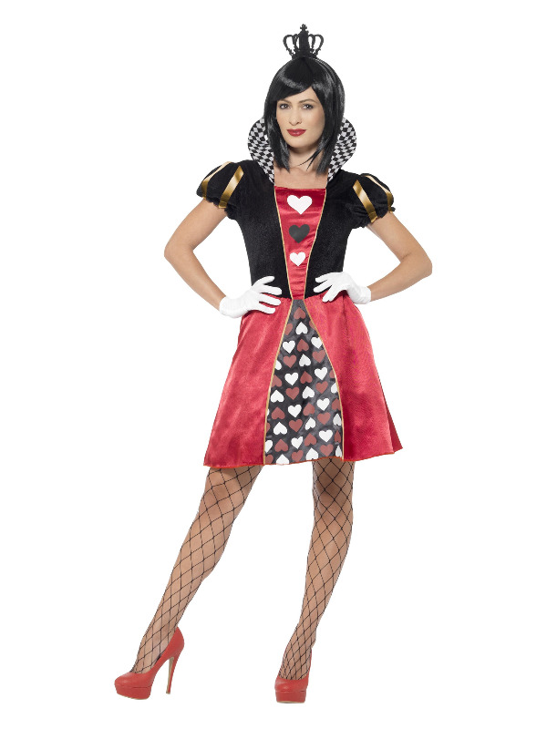 Carded Queen Costume, Red