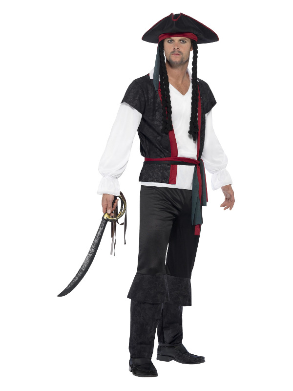 Aye Aye Pirate Captain Costume, Black