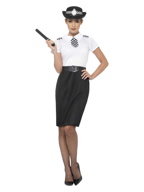 British Police Lady Costume, Black