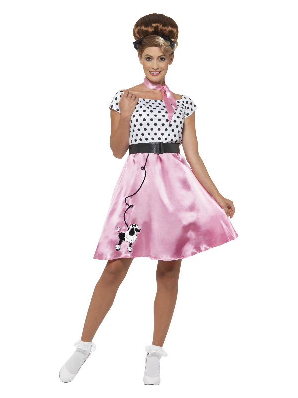 50s Rock 'n' Roll Costume, Pink