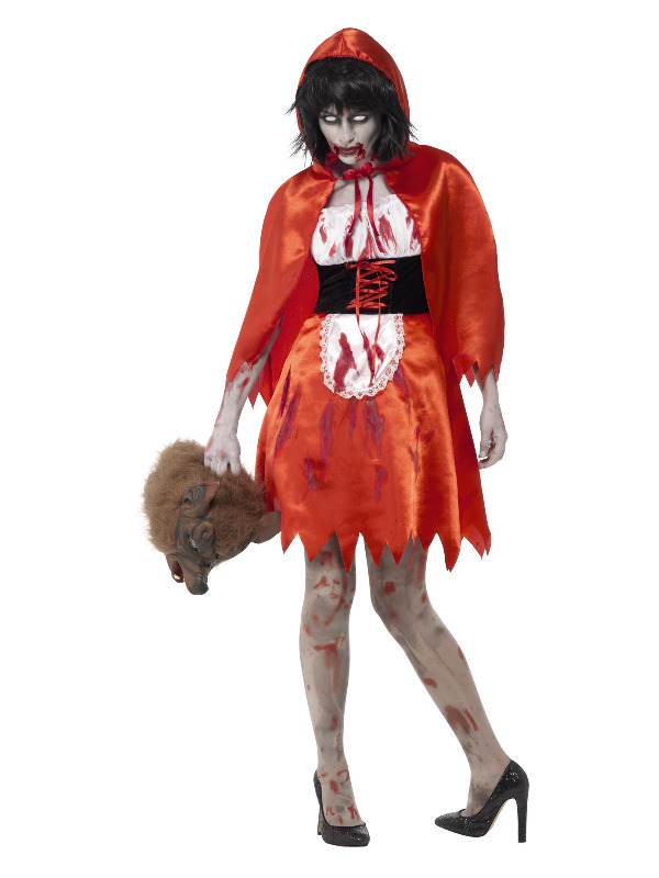 Zombie Little Miss Hood Costume, Red