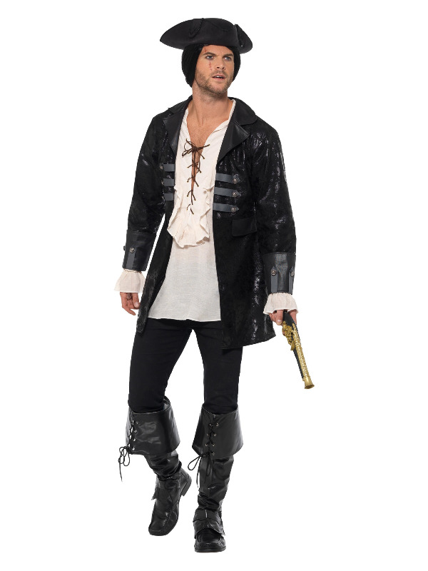 Buccaneer Pirate Jacket, Black