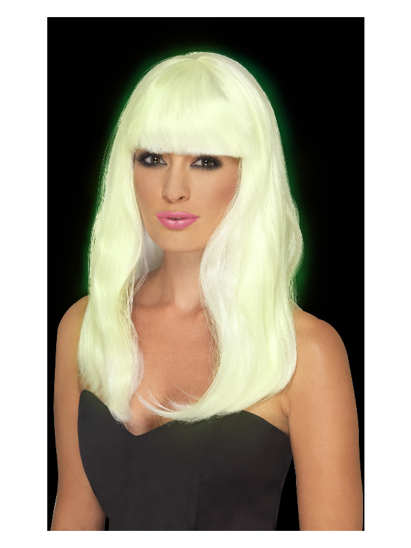 Glam Party Wig, Glow in the Dark
