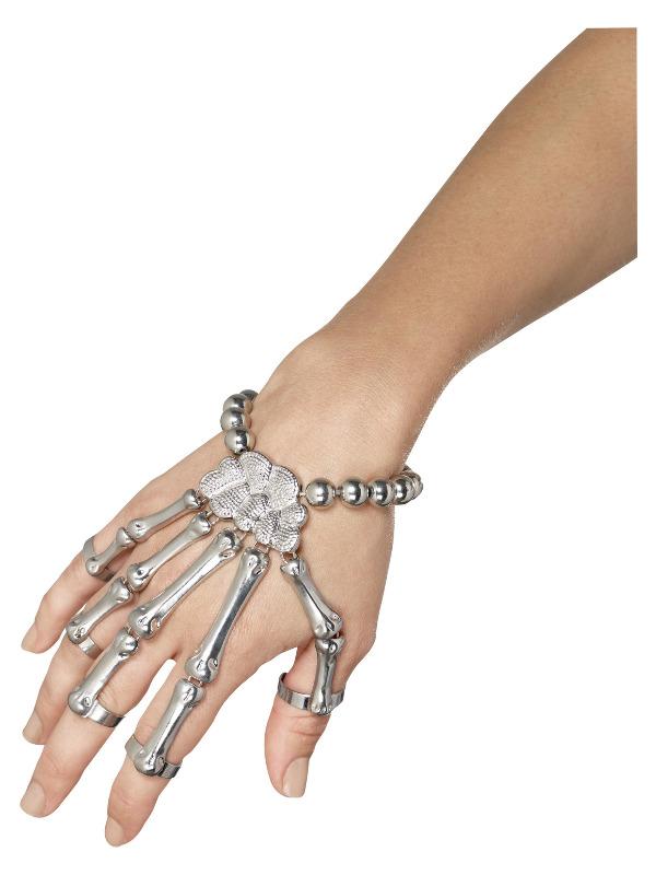 Skeleton Hand Bracelet, Silver