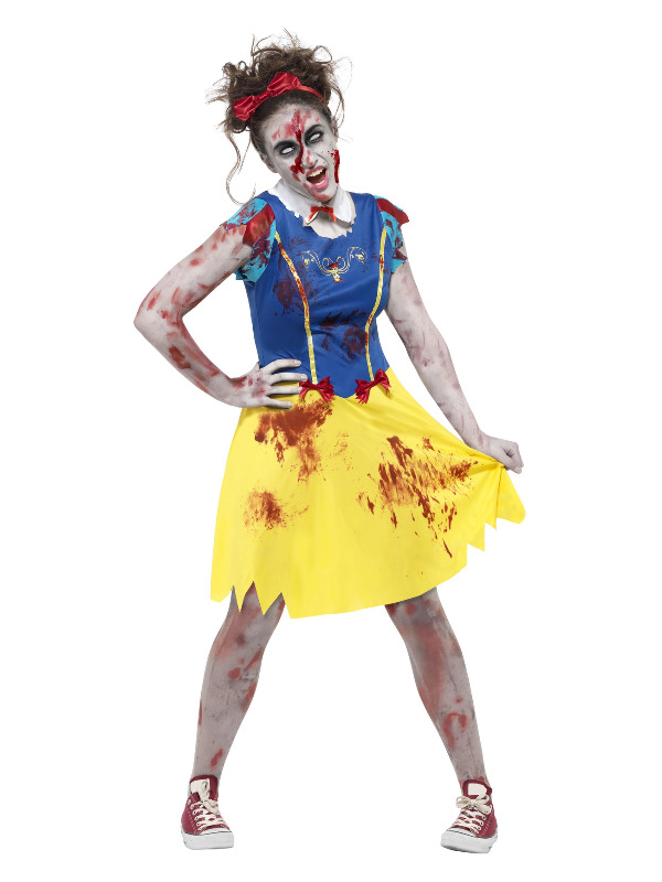 Zombie Miss Snow Costume, Multi-Coloured