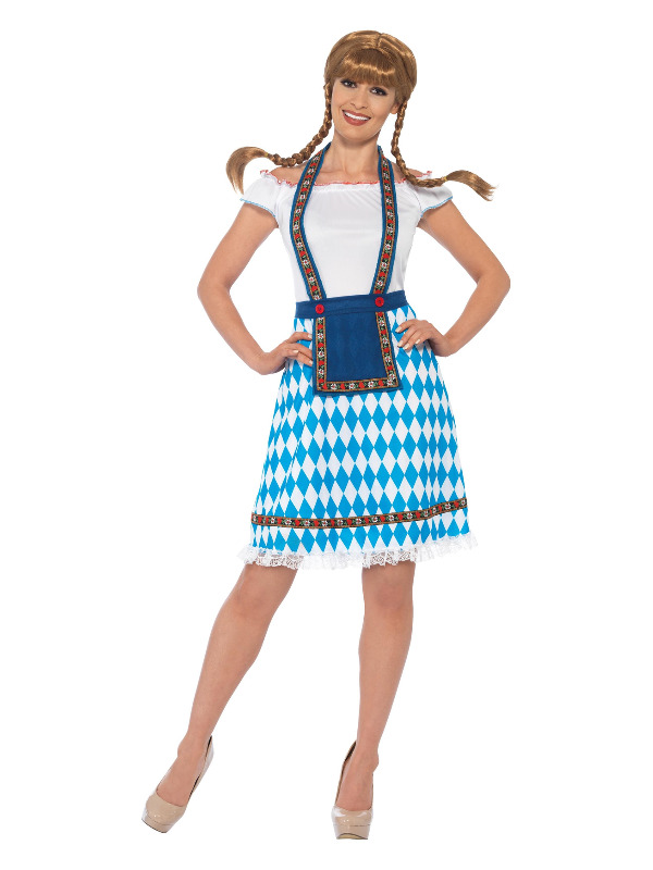 Bavarian Maid Costume, Blue