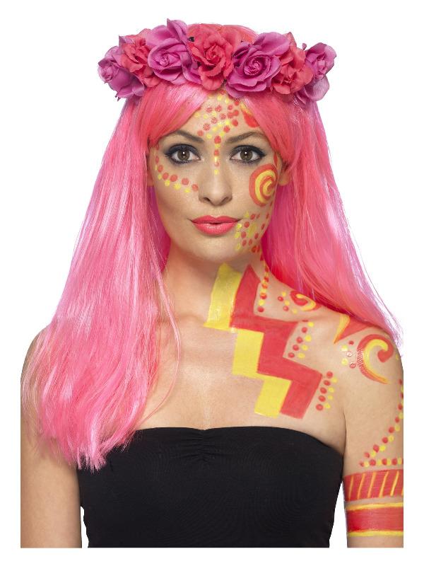 Smiffys Make-Up FX, Neon UV Liquid Latex Kit, with Face/Body Paints & 2 Applicators, 29.57ml/1 US fl.