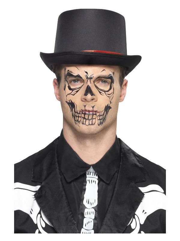 Smiffys Make-Up FX, Skull Face Tattoo Transfer, 50 Sheets Per Pack
