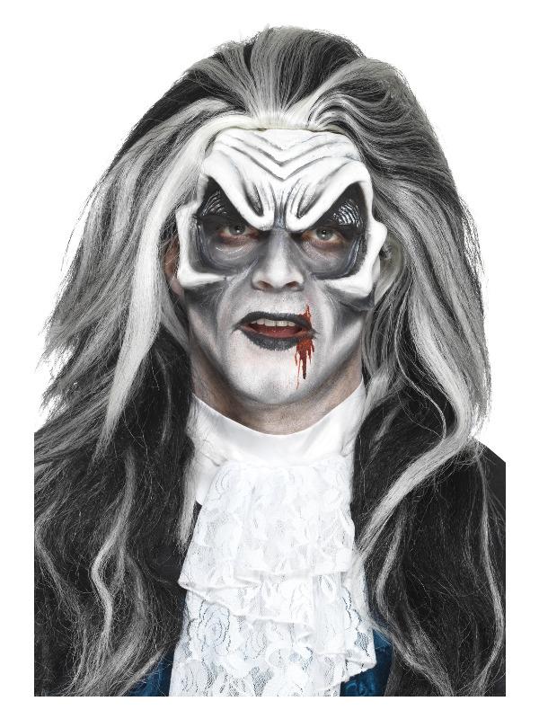 Smiffys Make-Up FX, Foam Latex Vampire Head Prosthetic, White, with Adhesive