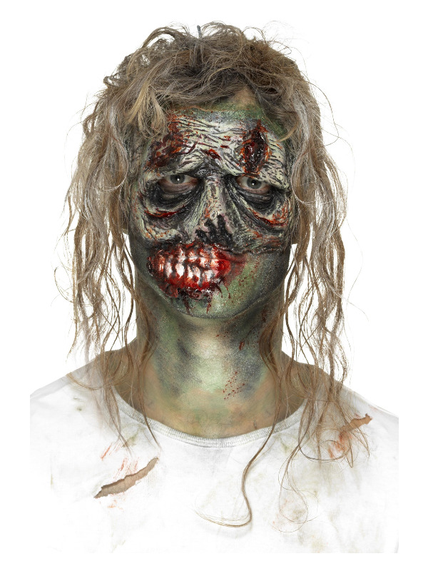 Smiffys Make-Up FX, Foam Latex Zombie Eye Prosthetic, Green, with Adhesive