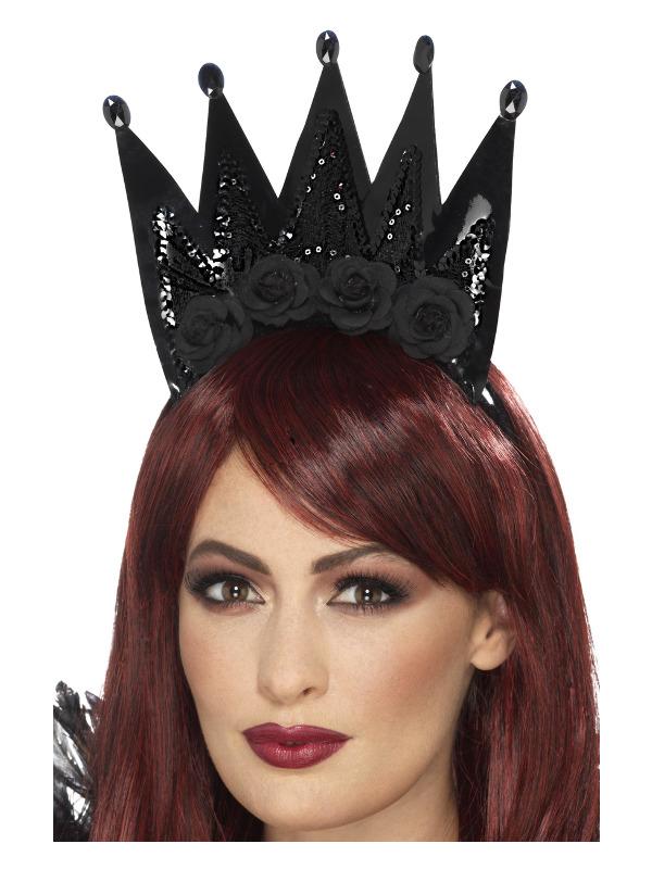Evil Queen Crown, Black, on Headband