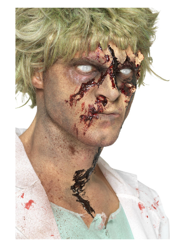 Smiffys Make-Up FX, Zombie Dirt Stain Powder, Brown, in Spray Bottle, For Face, Body & Clothing