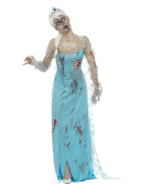 Zombie Froze to Death Costume, Blue