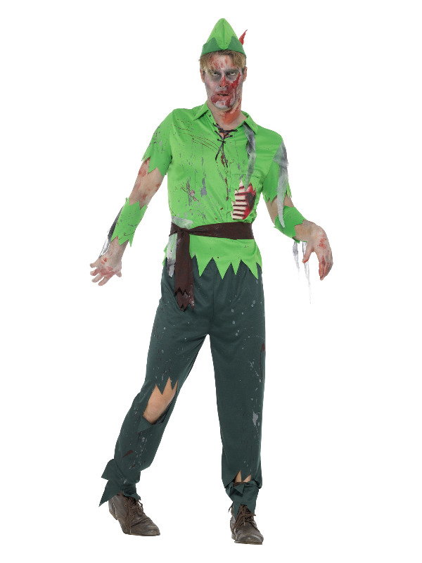 Zombie Lost Boy Costume, Green