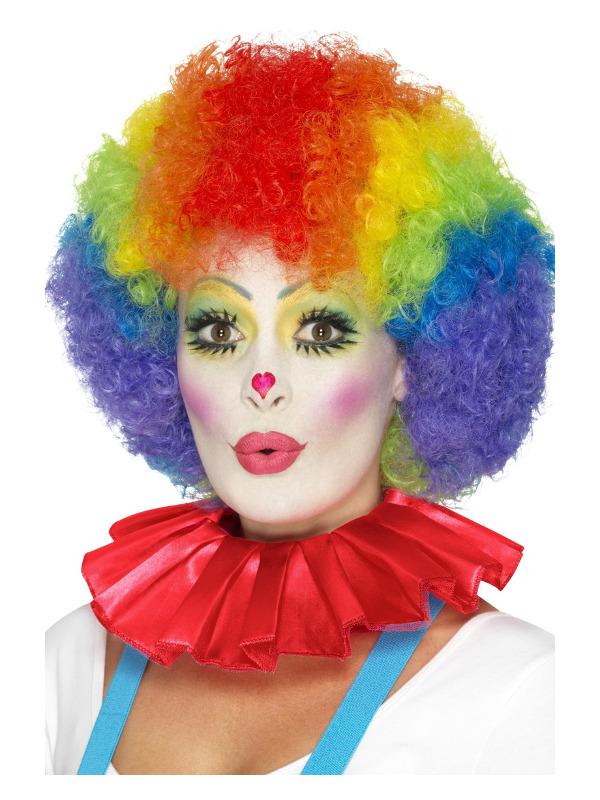 Clown Neck Ruffle, Red