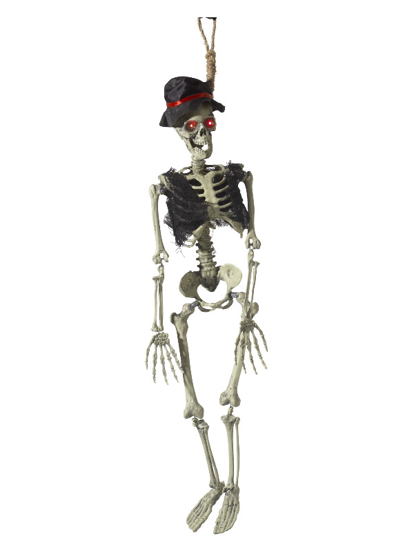 Animated Hanging Groom Skeleton Decoration, Natural, with Light Up Eyes, Sounds & Movement, 90cm/35inch