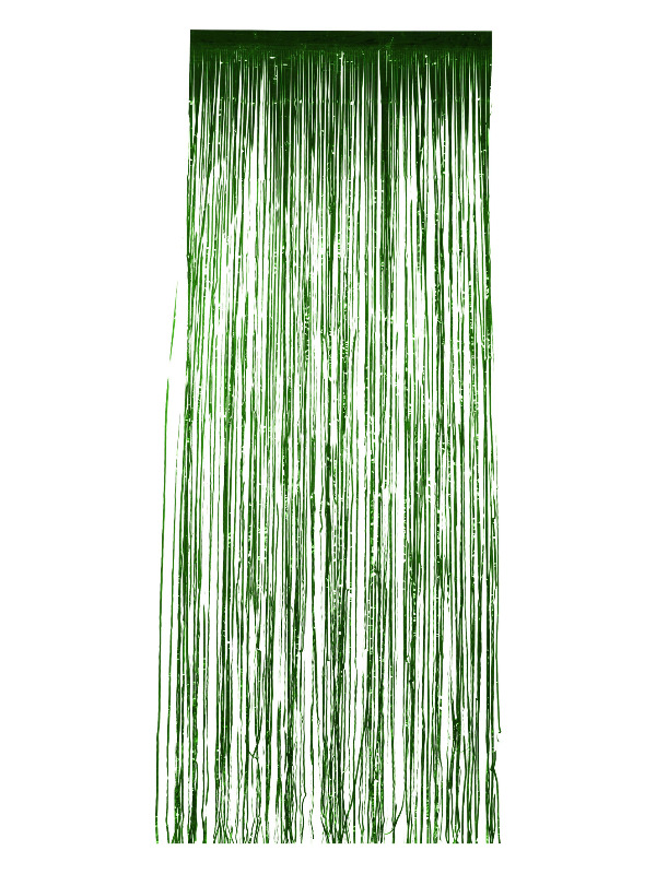 Shimmer Curtain, Metallic Green, 91x244cm / 36x96in