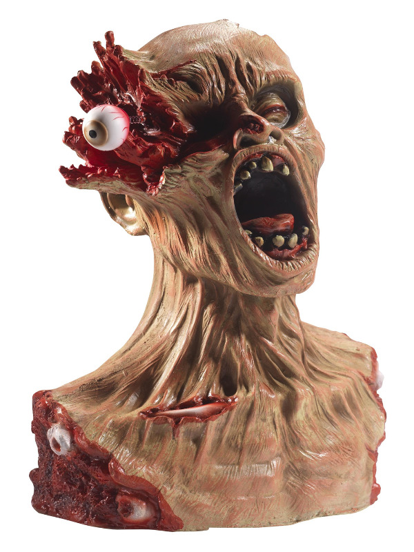 Latex Exploding Eye Zombie Bust Prop, Multi-Coloured, 40x33x22cm / 16x13x9in