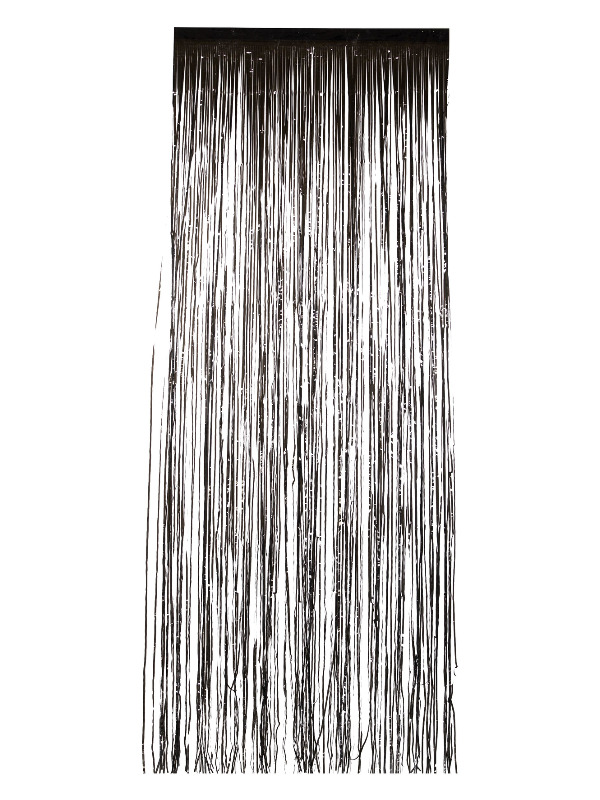 Shimmer Curtain, Metallic Black, 91x244cm / 36x96in